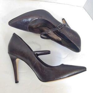 Via Spiga deep purple pointed toe heels